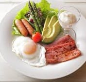 Example of a meal on the Atkins diet. Ref: docsopinion.com